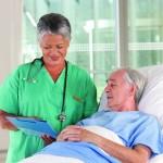 female nurse and patient